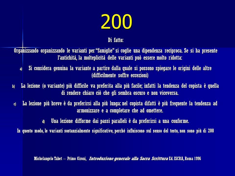 200 Di fatto: