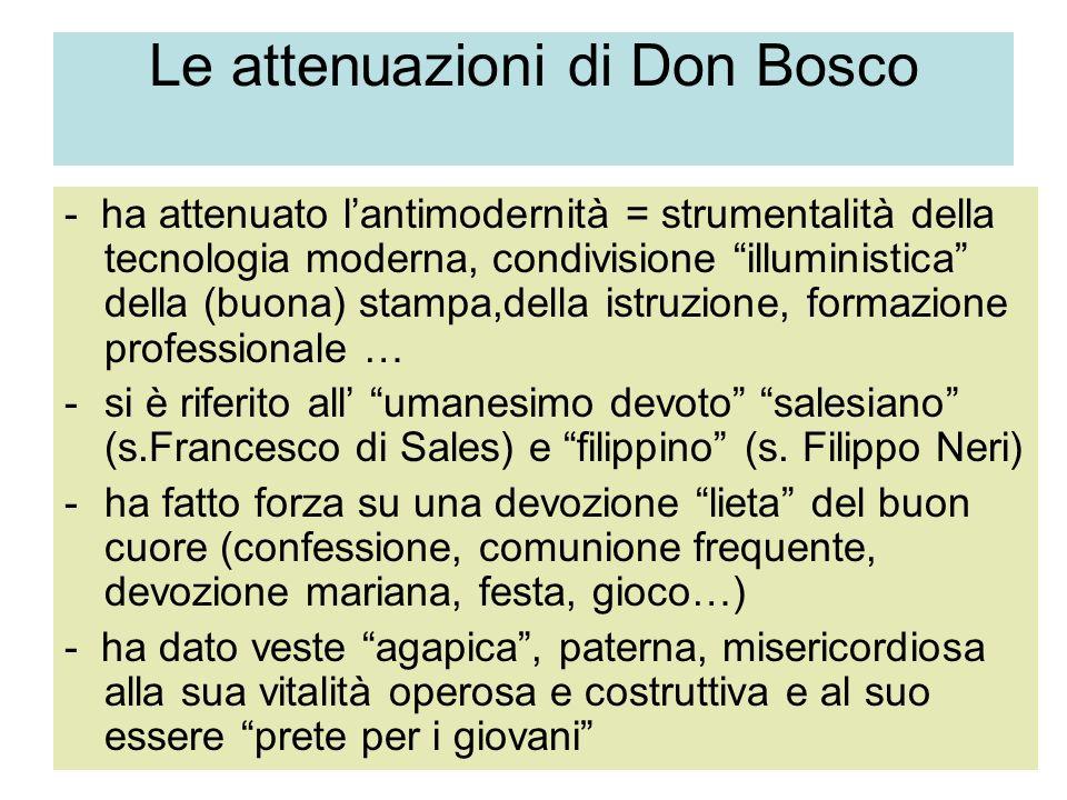 Le attenuazioni di Don Bosco