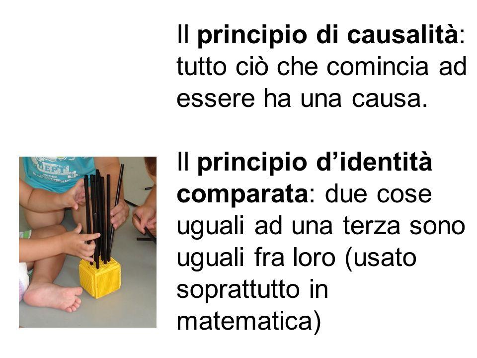 Il principio di causalità: tutto ciò che comincia ad essere ha una causa.