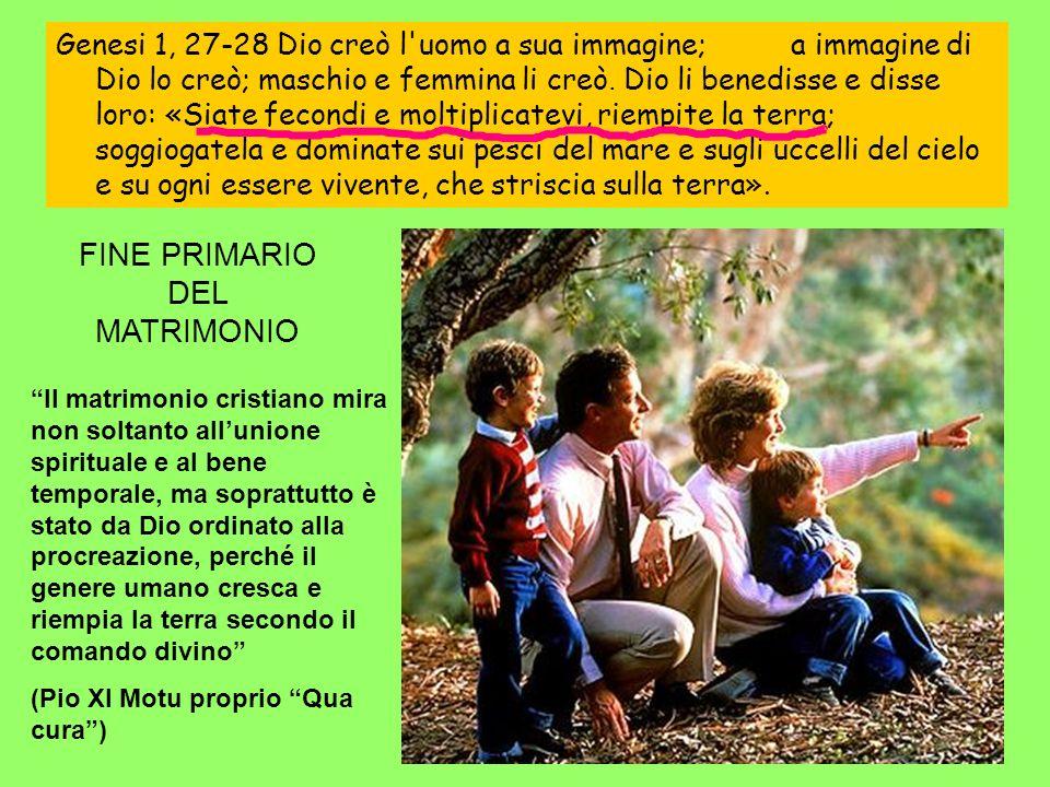 FINE PRIMARIO DEL MATRIMONIO