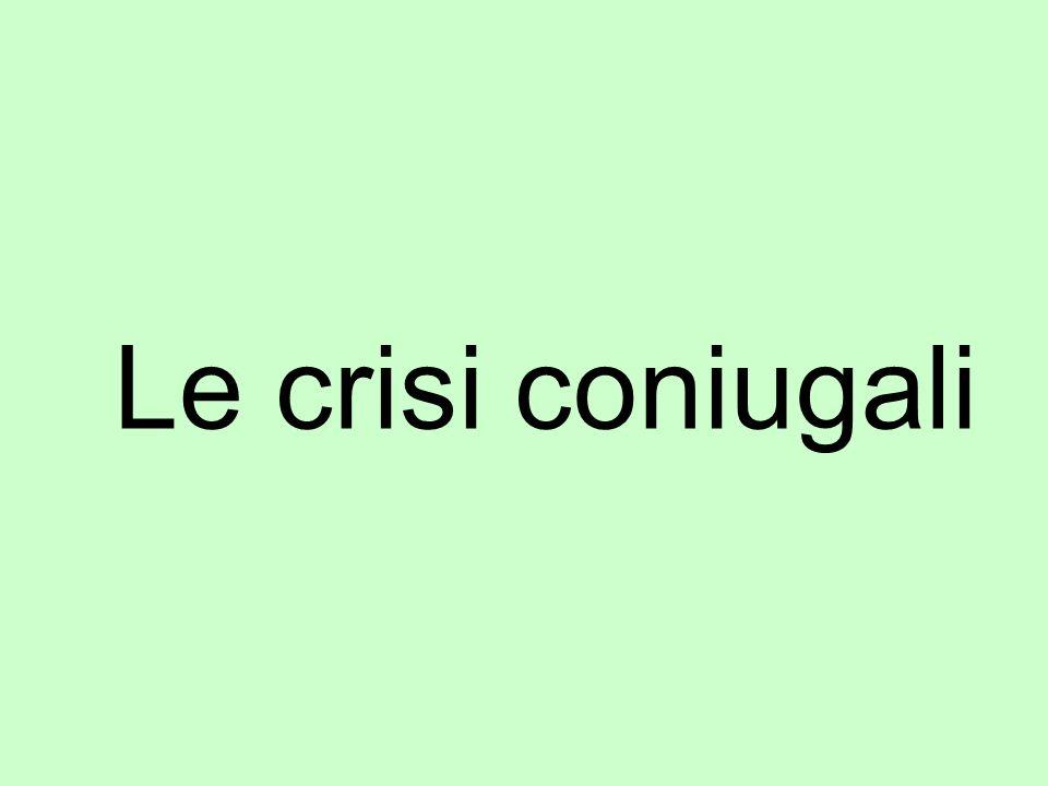 Le crisi coniugali