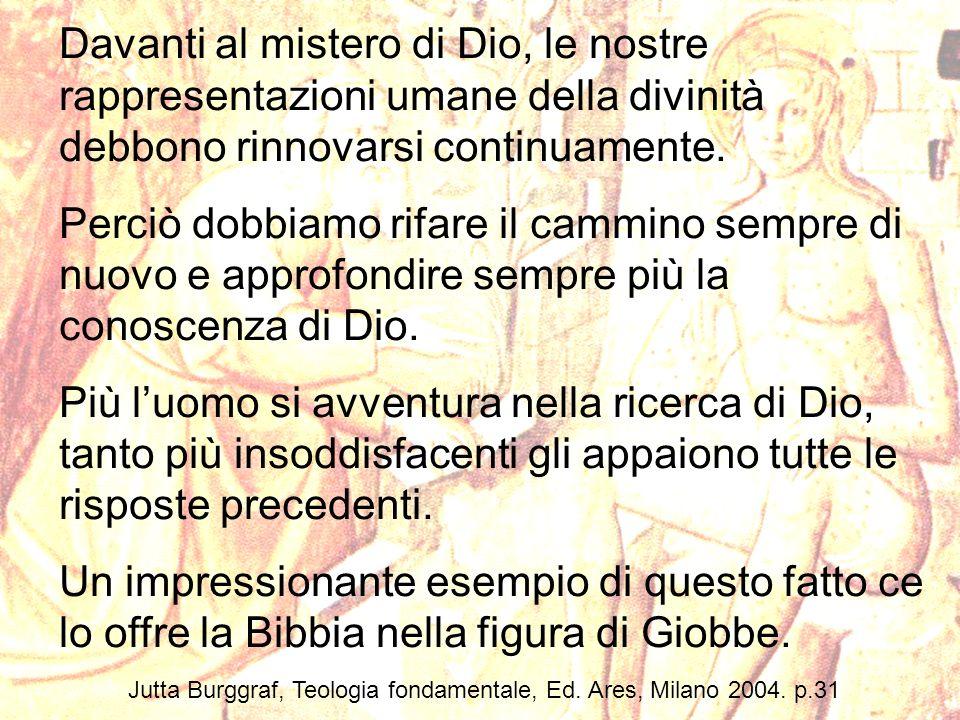 Jutta Burggraf, Teologia fondamentale, Ed. Ares, Milano 2004. p.31