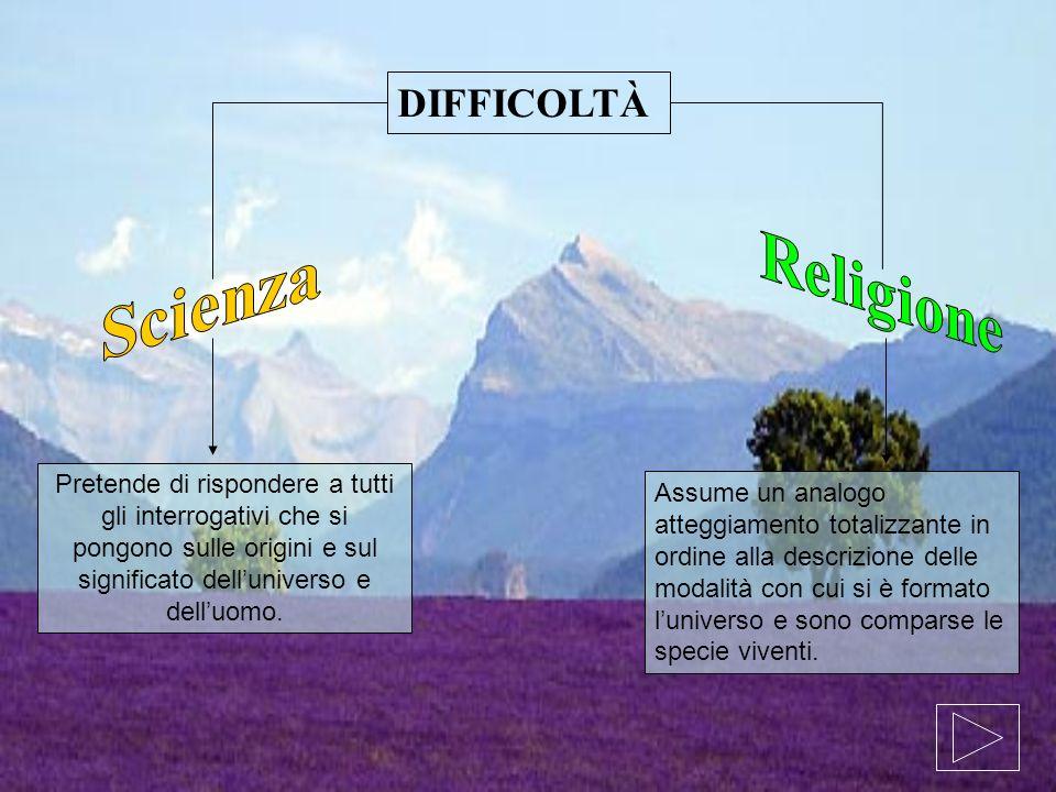 Religione Scienza DIFFICOLTÀ