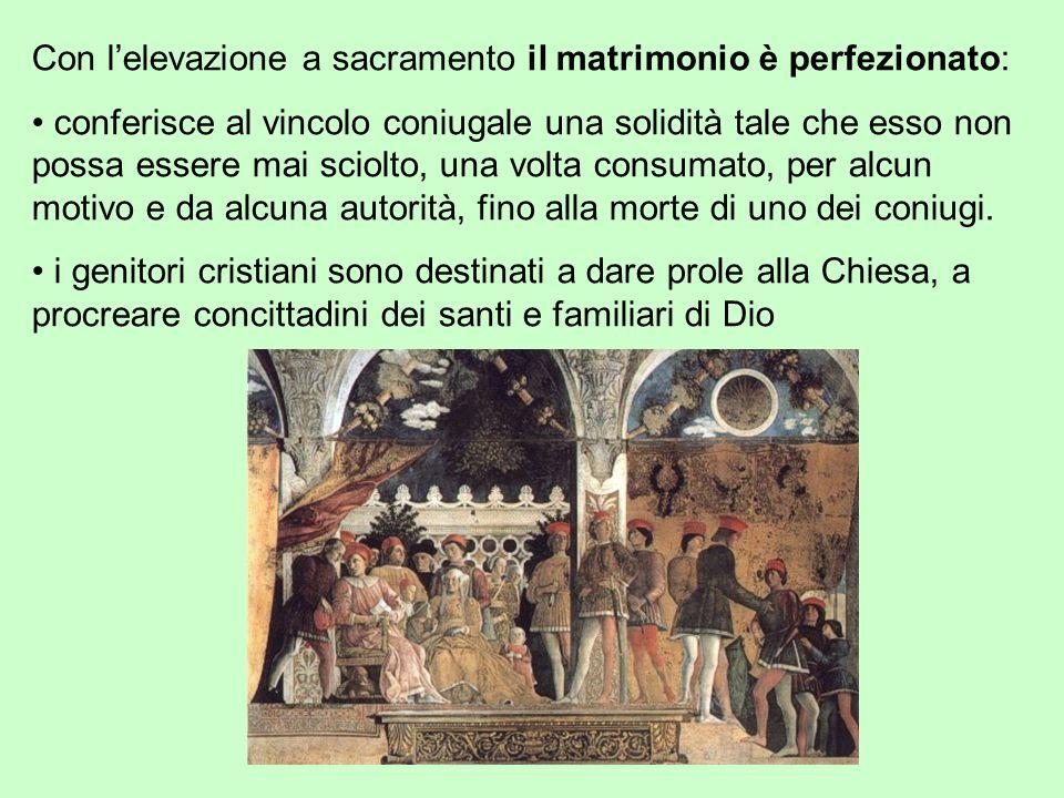 Con l'elevazione a sacramento il matrimonio è perfezionato: