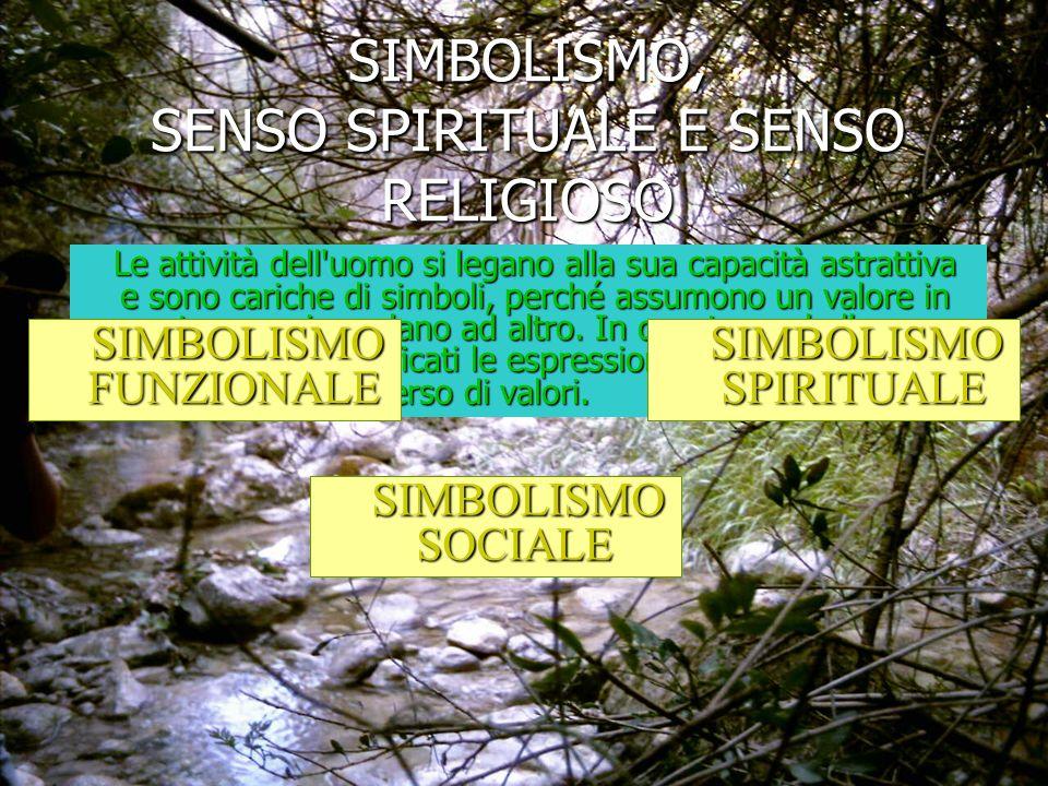 SIMBOLISMO, SENSO SPIRITUALE E SENSO RELIGIOSO