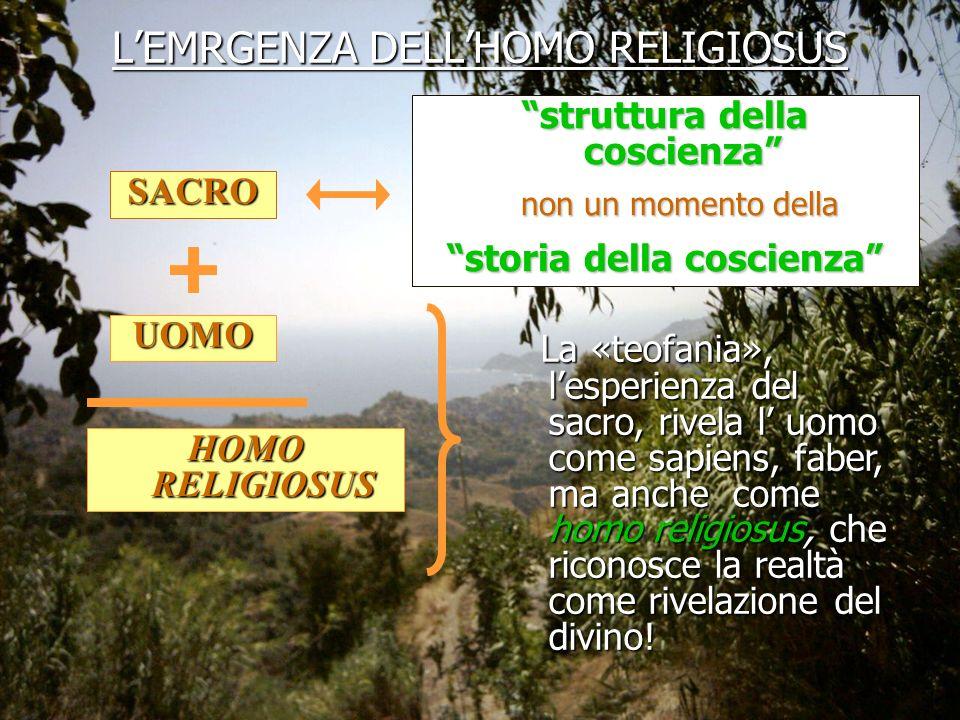 L'EMRGENZA DELL'HOMO RELIGIOSUS