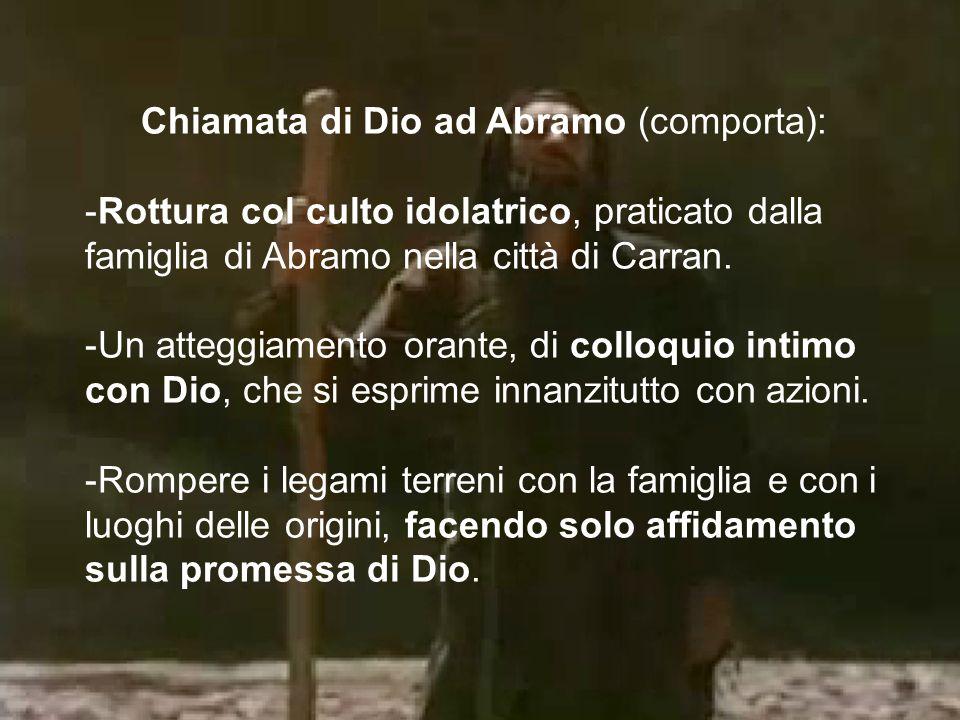 Chiamata di Dio ad Abramo (comporta):