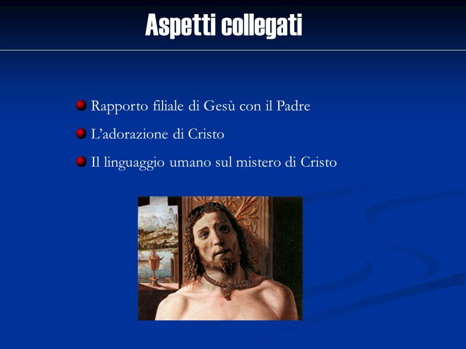Aspetti collegati Rapporto filiale di Gesù con il Padre
