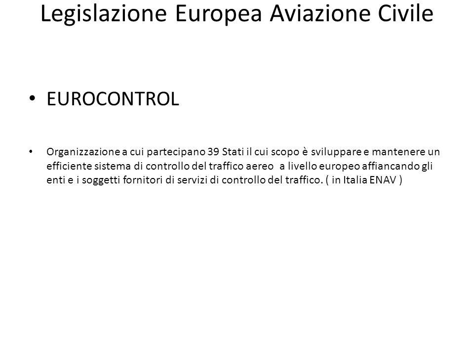 Legislazione Europea Aviazione Civile