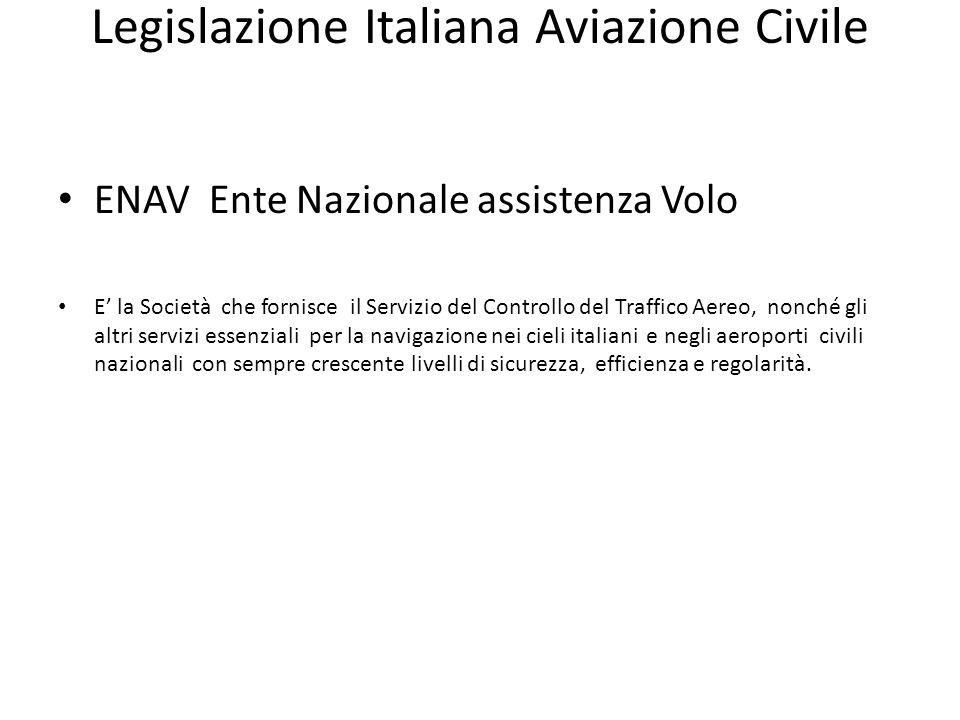 Legislazione Italiana Aviazione Civile