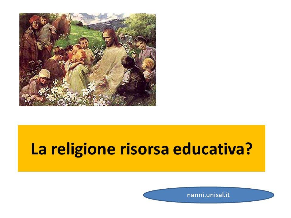 La religione risorsa educativa