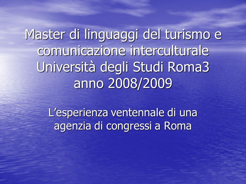 L'esperienza ventennale di una agenzia di congressi a Roma