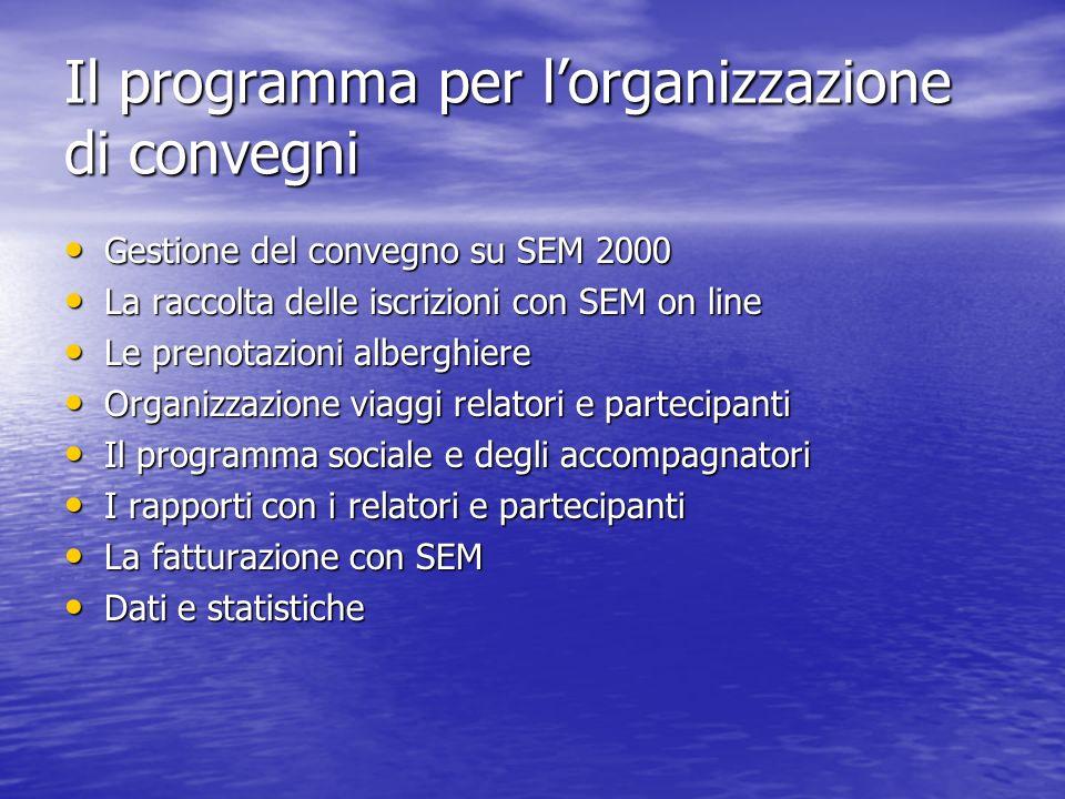 Il programma per l'organizzazione di convegni