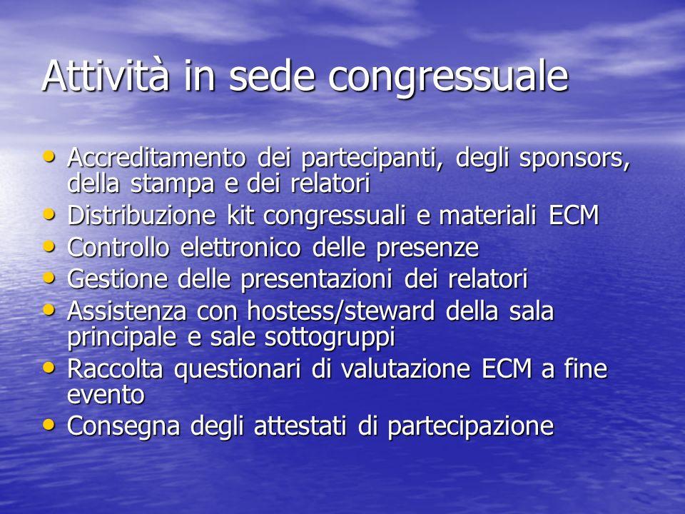 Attività in sede congressuale