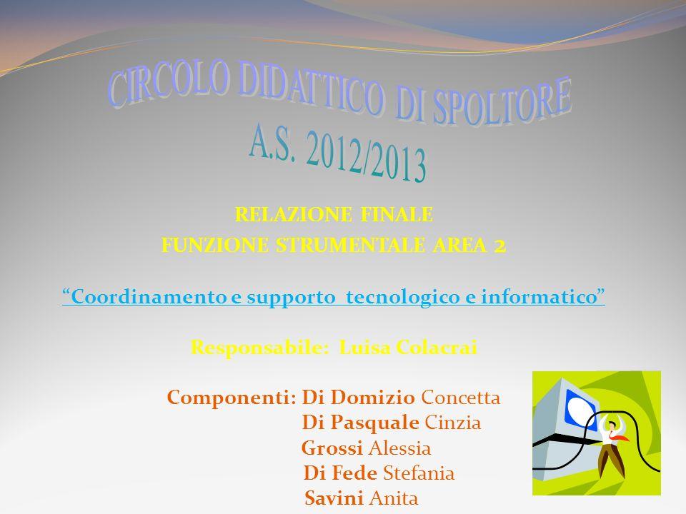 CIRCOLO DIDATTICO DI SPOLTORE A.S. 2012/2013
