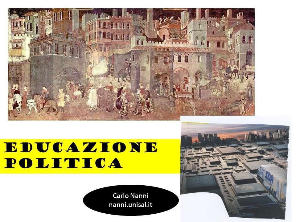 Educazione politica Carlo Nanni nanni.unisal.it