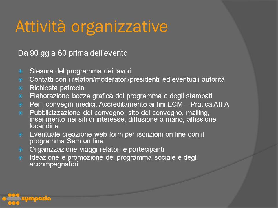 Attività organizzative