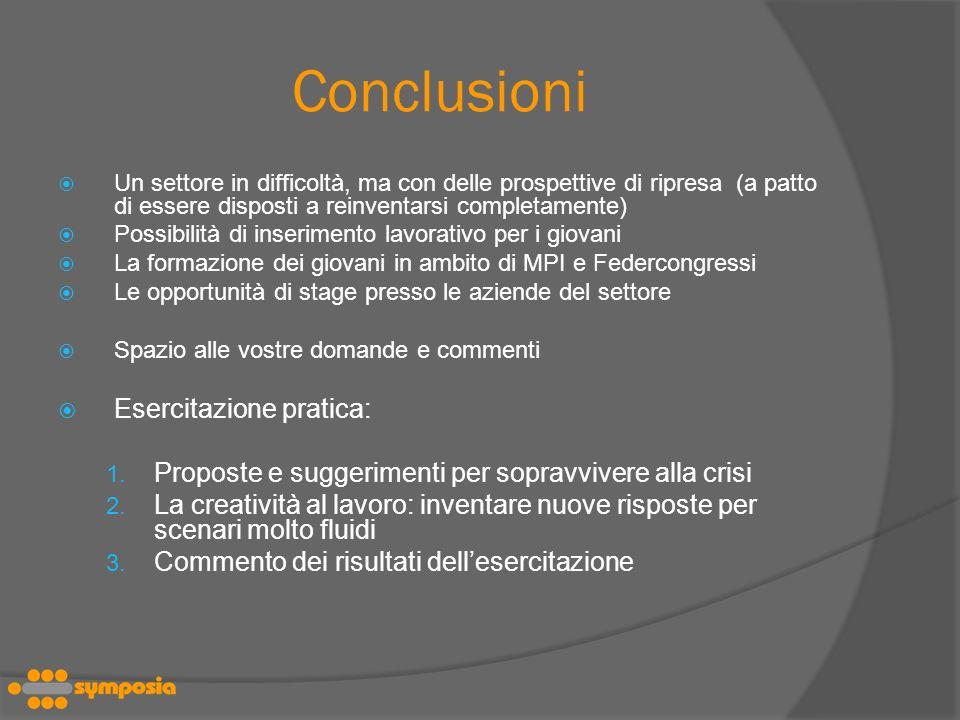 Conclusioni Esercitazione pratica: