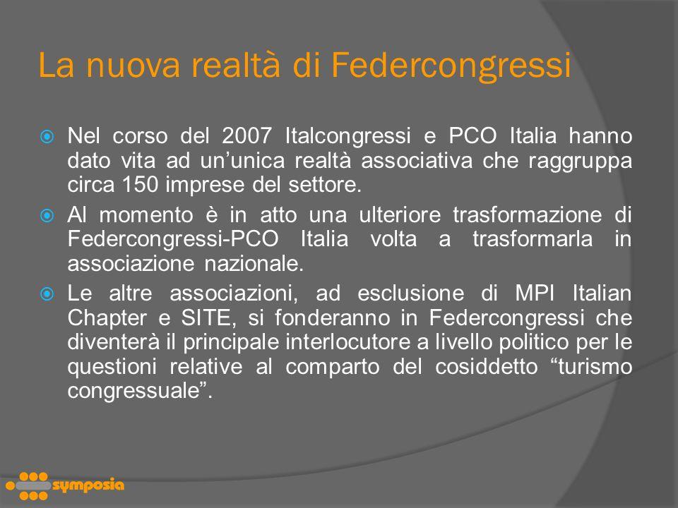 La nuova realtà di Federcongressi
