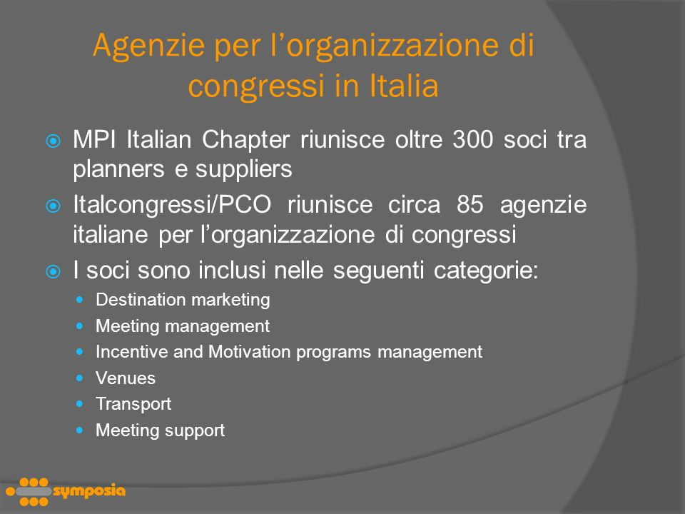 Agenzie per l'organizzazione di congressi in Italia