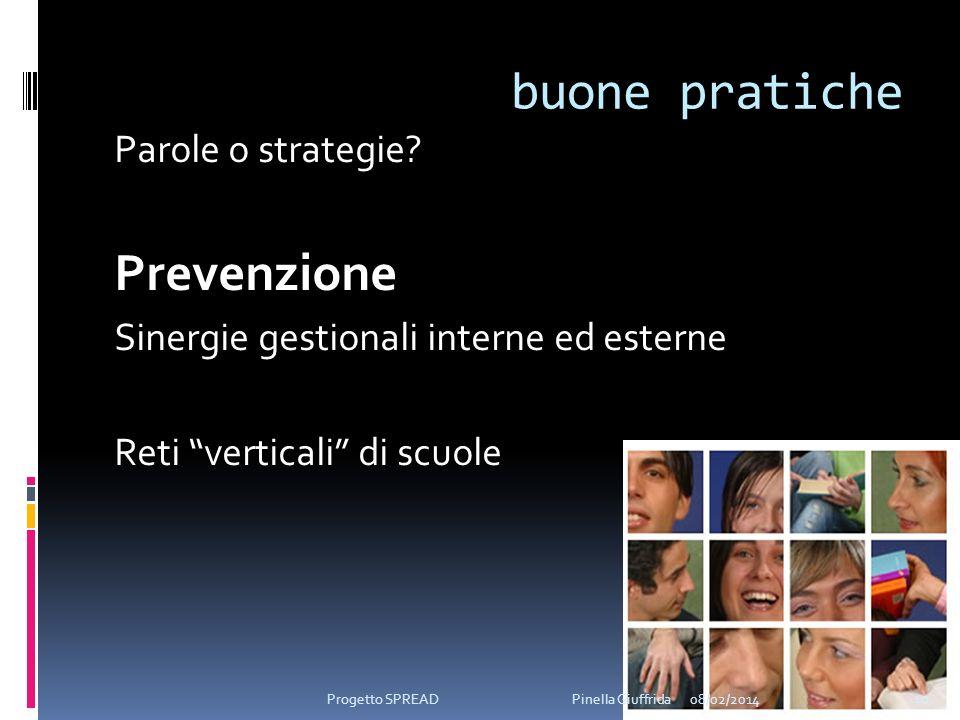 buone pratiche Prevenzione Parole o strategie