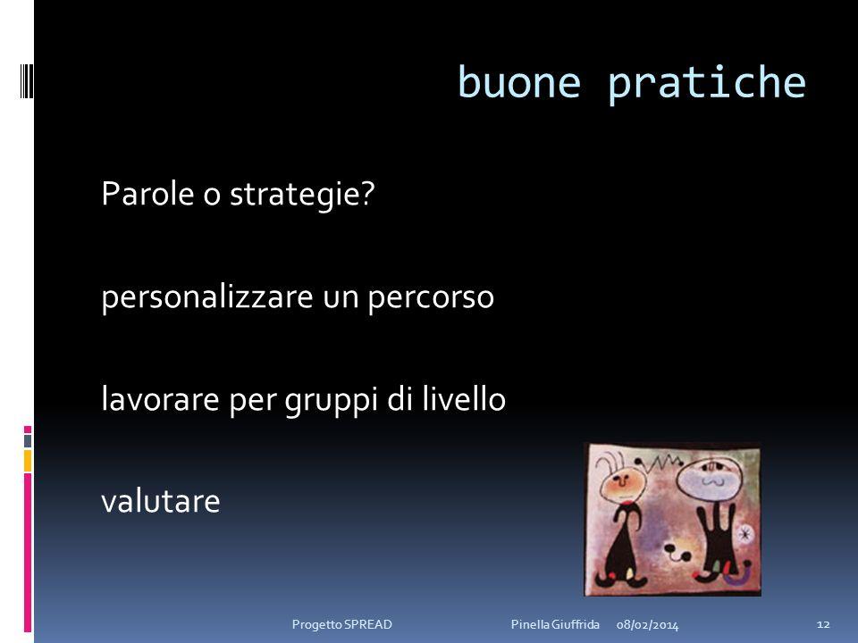 buone pratiche Parole o strategie personalizzare un percorso