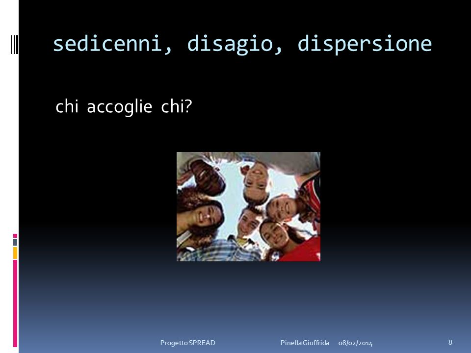 sedicenni, disagio, dispersione