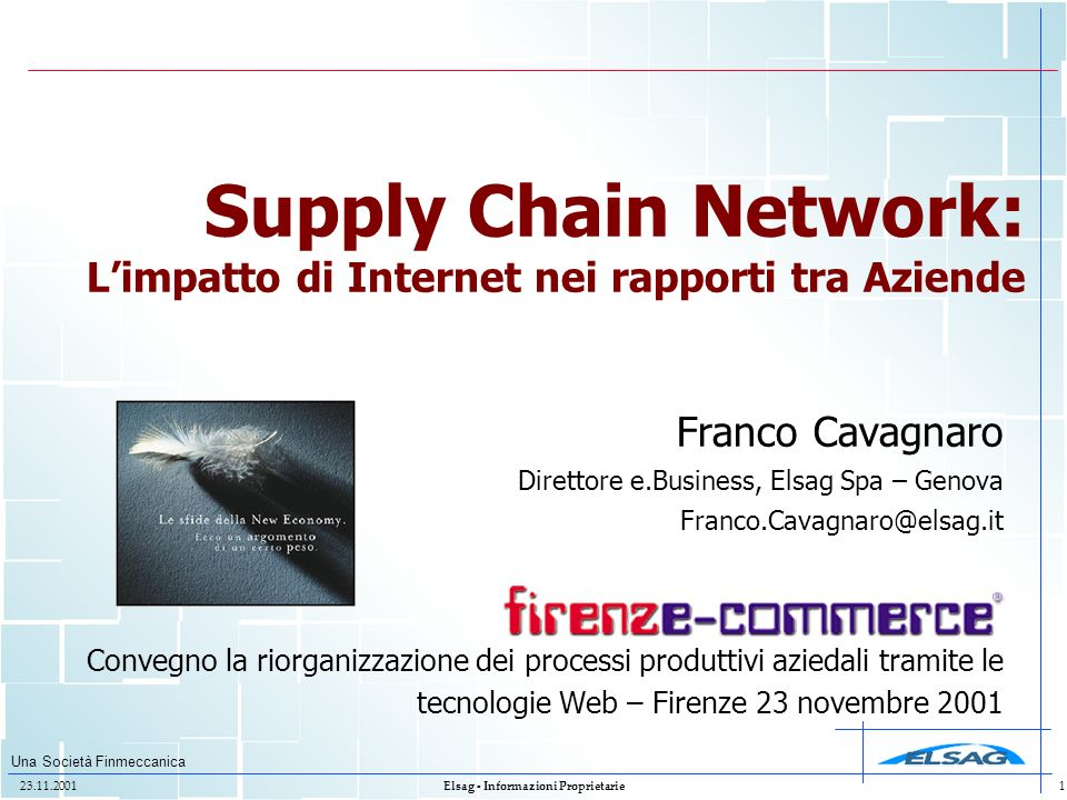 Supply Chain Network: L'impatto di Internet nei rapporti tra Aziende