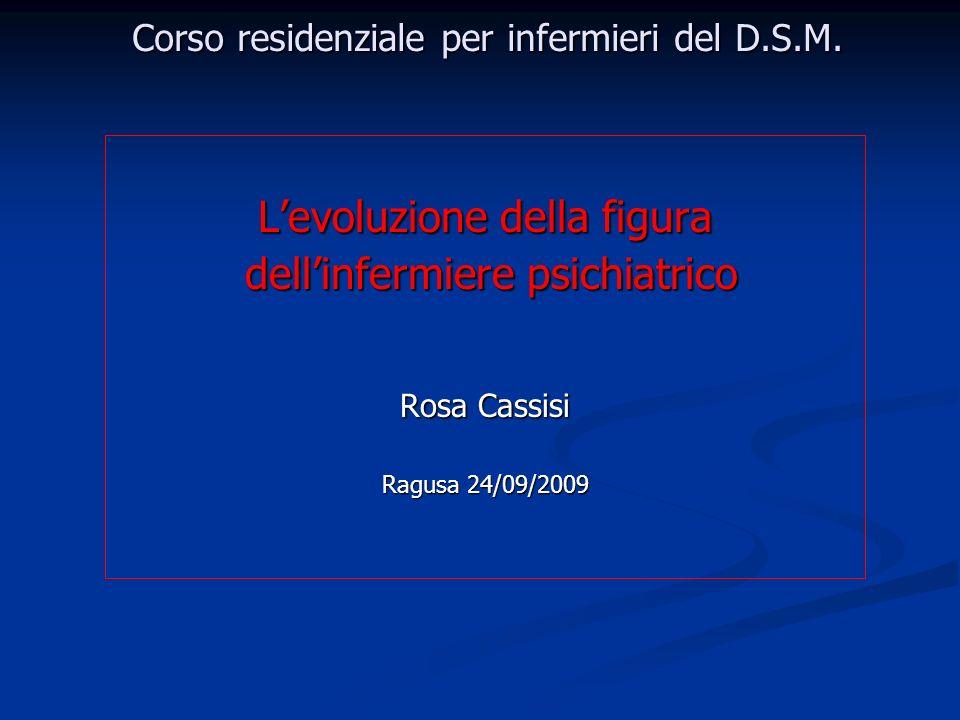 Corso residenziale per infermieri del D.S.M.
