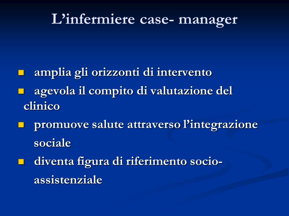 L'infermiere case- manager