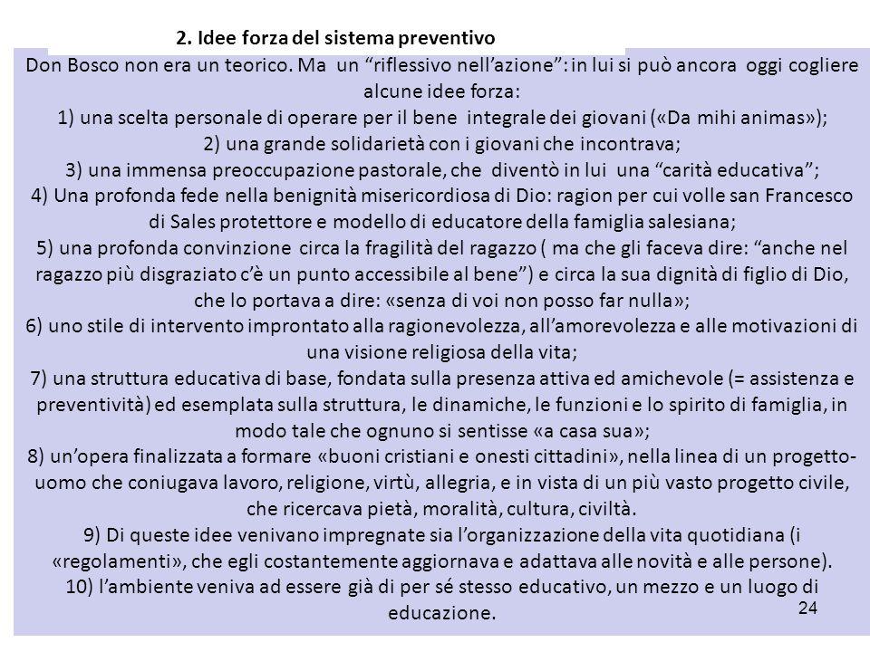 2. Idee forza del sistema preventivo