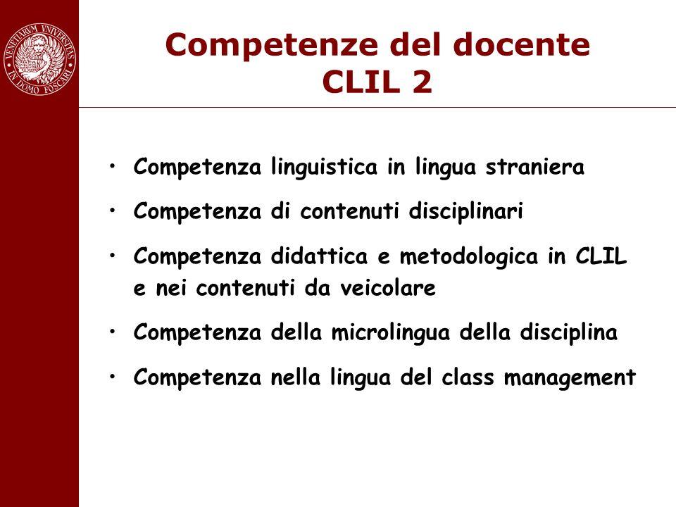 Competenze del docente CLIL 2