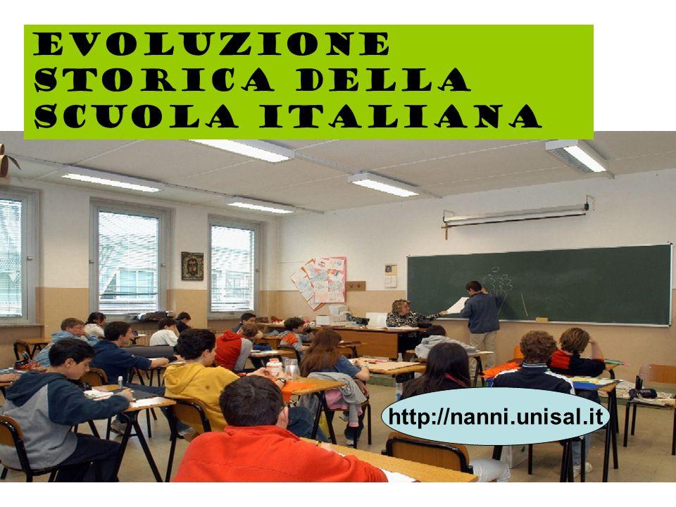 Evoluzione storica della scuola italiana
