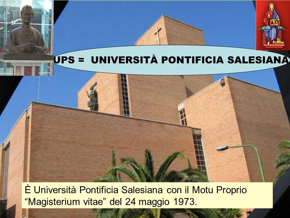UPS = UNIVERSITÀ PONTIFICIA SALESIANA