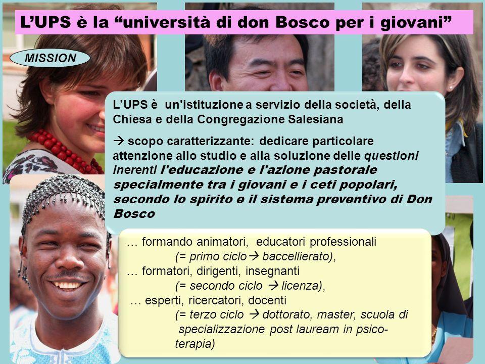 L'UPS è la università di don Bosco per i giovani