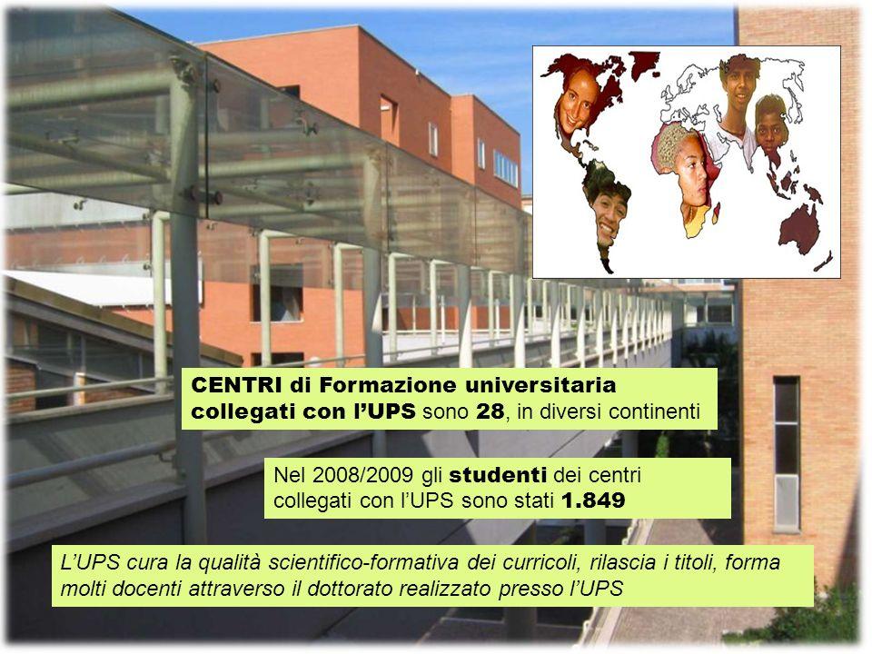 CENTRI di Formazione universitaria collegati con l'UPS sono 28, in diversi continenti