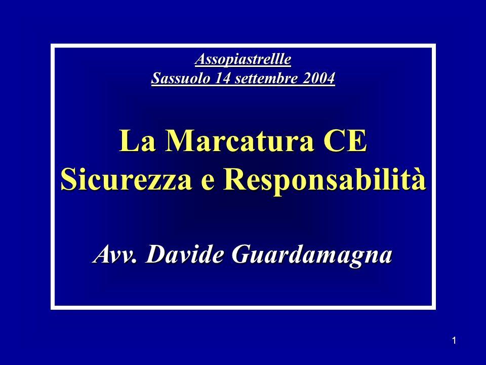 Sicurezza e Responsabilità Avv. Davide Guardamagna