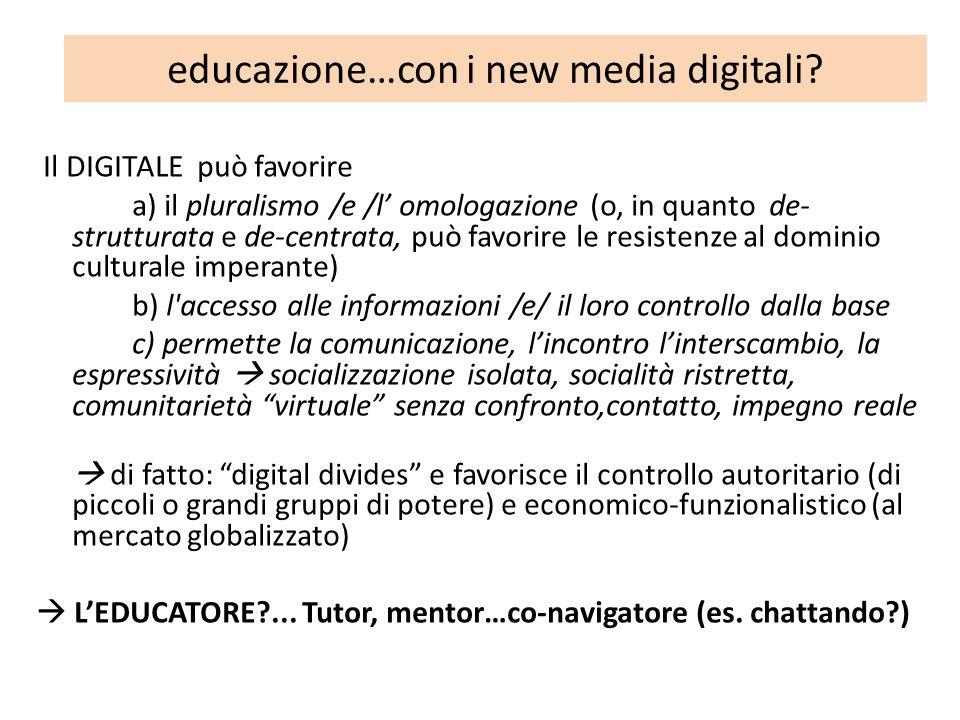 educazione…con i new media digitali