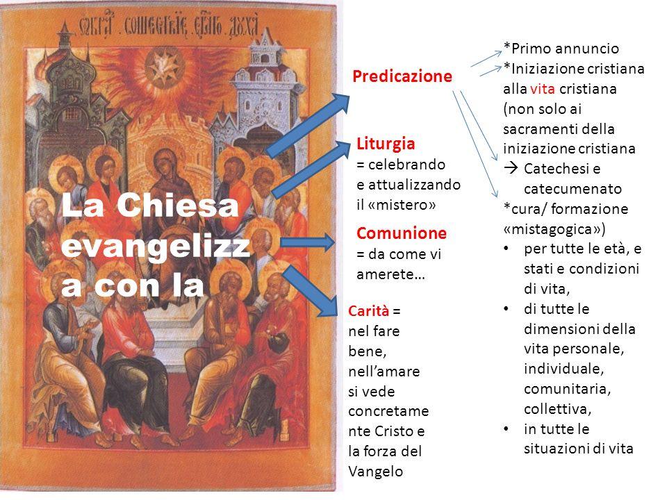 La Chiesa evangelizza con la