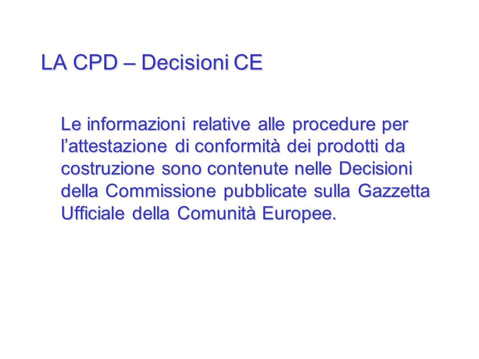 LA CPD – Decisioni CE
