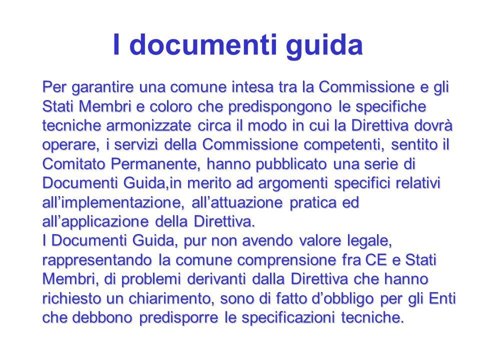 I documenti guida