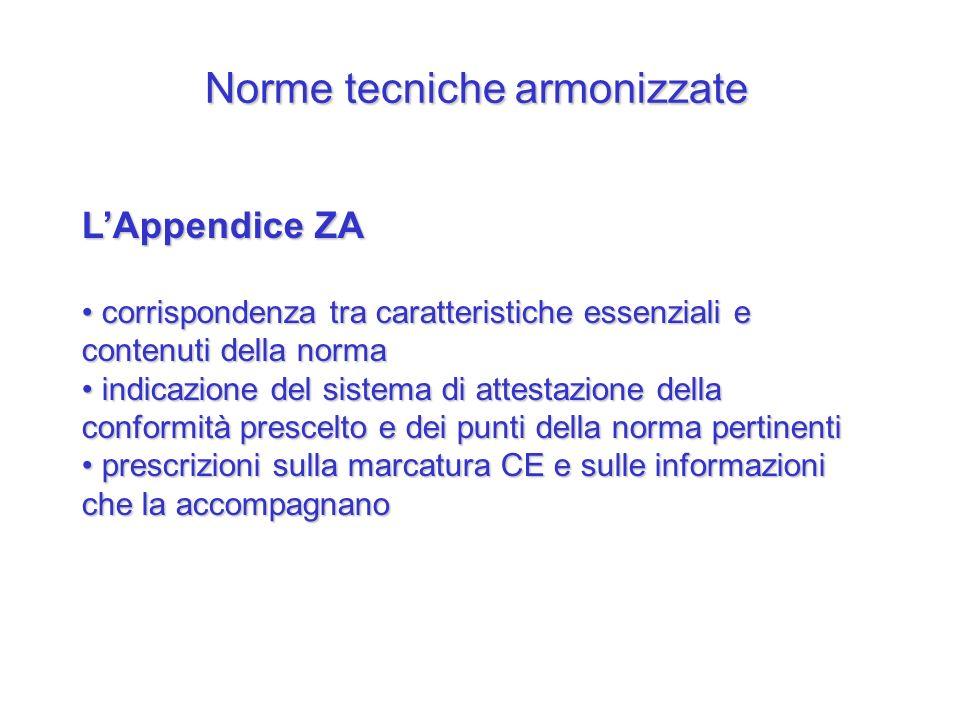 Norme tecniche armonizzate