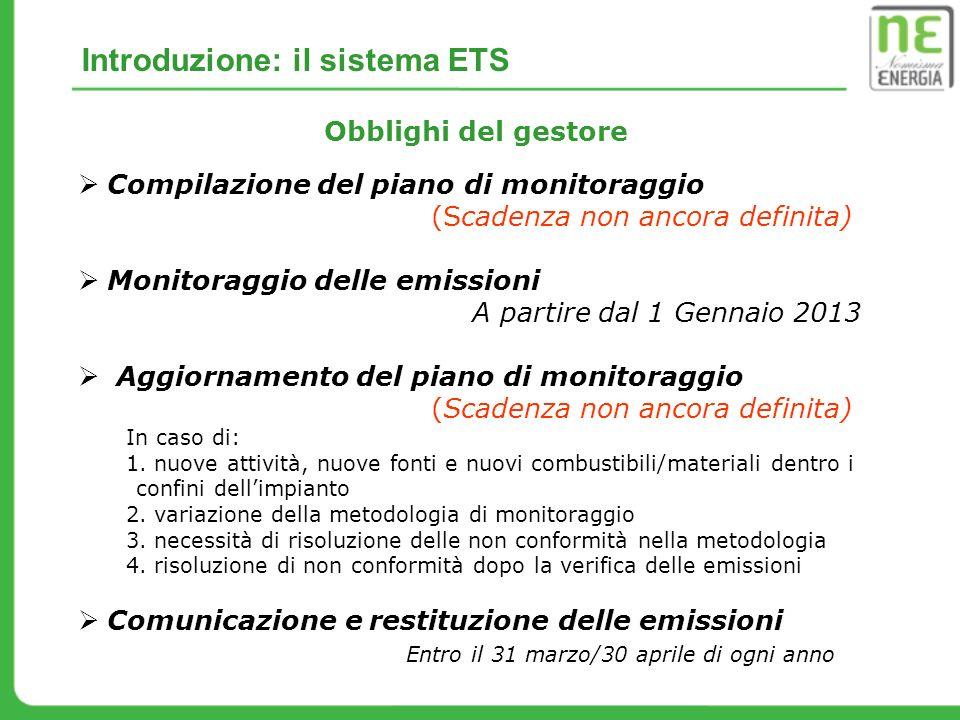 Introduzione: il sistema ETS