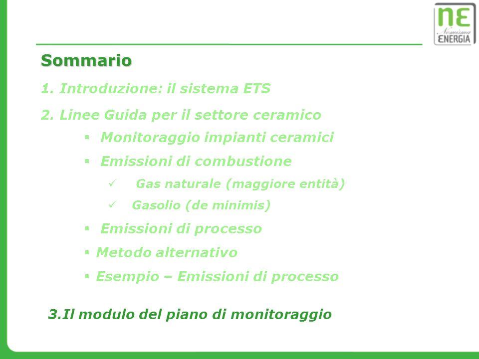 Sommario Introduzione: il sistema ETS