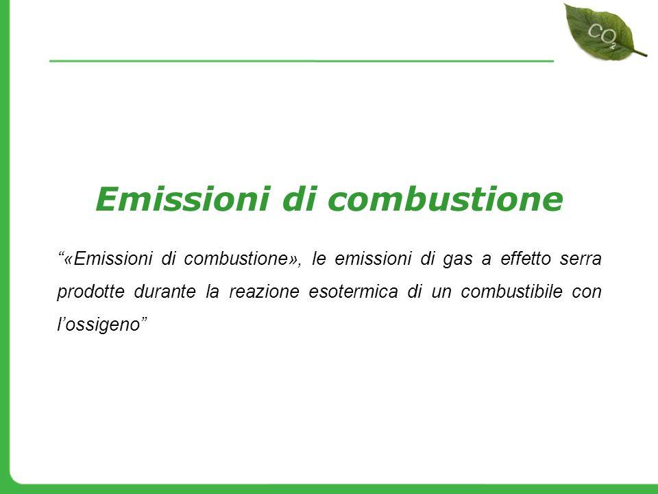 Emissioni di combustione