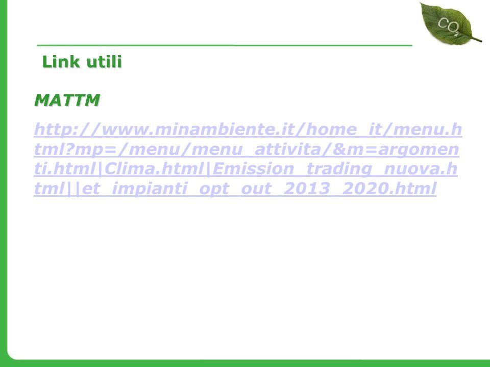 Link utili MATTM.