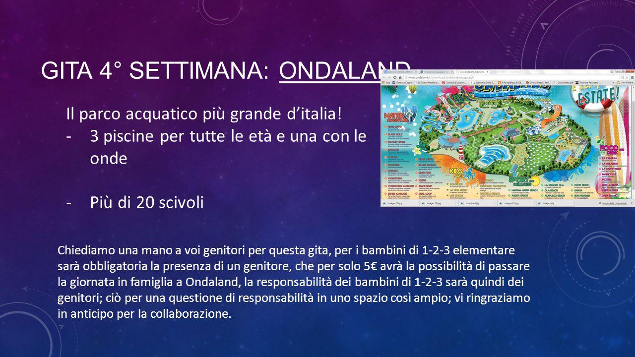 GITA 4° SETTIMANA: ONDALAND