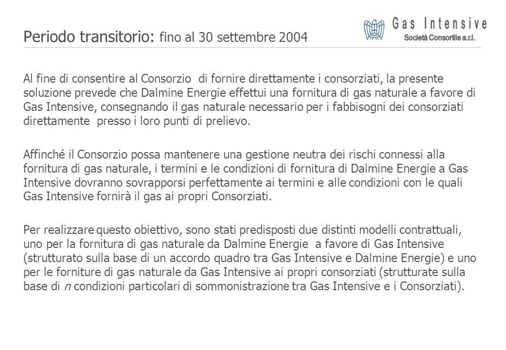 Periodo transitorio: fino al 30 settembre 2004