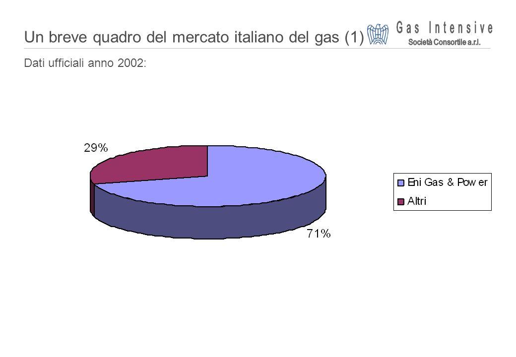 Un breve quadro del mercato italiano del gas (1)