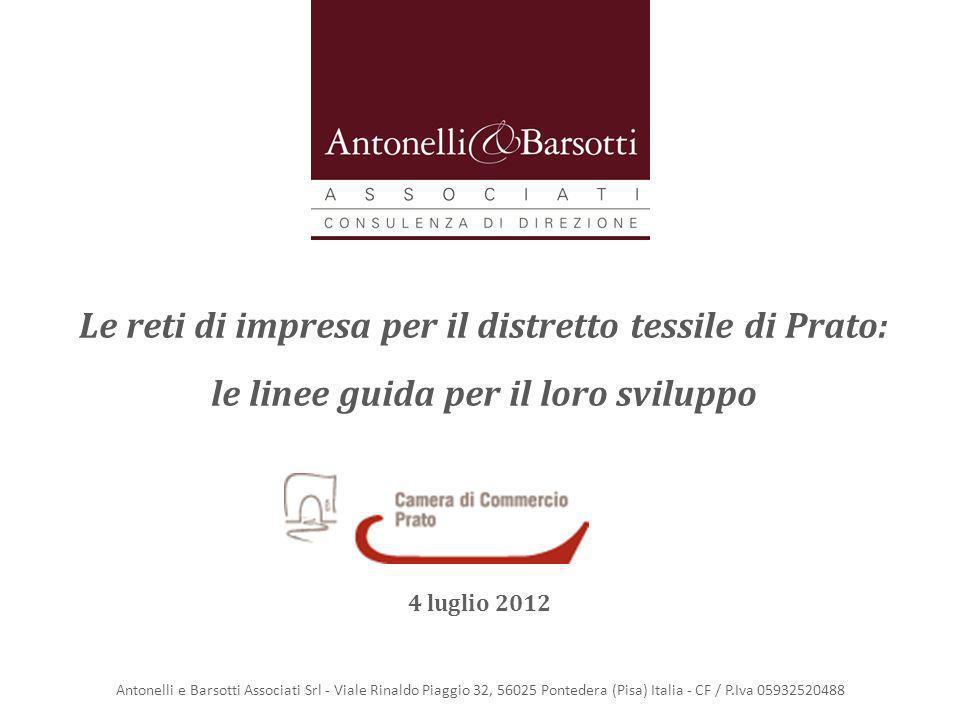 Le reti di impresa per il distretto tessile di Prato: le linee guida per il loro sviluppo